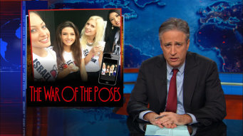 the war of the roses referenced on the jon stewart show
